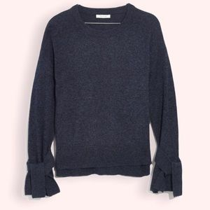 Madewell Tie-Cuff Pullover Sweater Size small